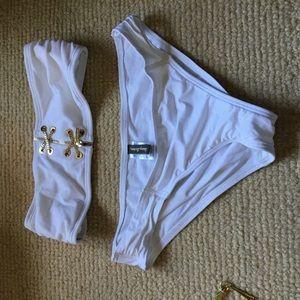 White bikini bottom